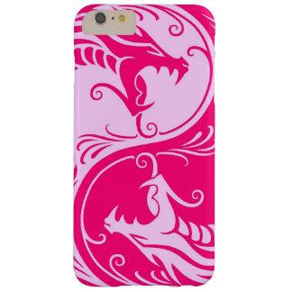 Dragones rosados de Yin Yang Funda De iPhone 6 Plus Barely There
