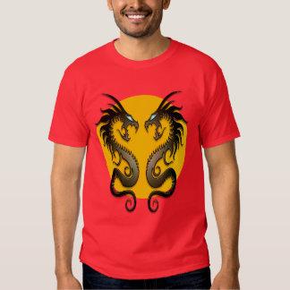 Dragones tribales (amarillo) poleras