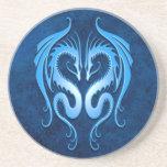 Dragones tribales, azules posavasos para bebidas