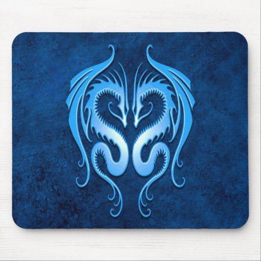 Dragones tribales, azules tapete de ratón