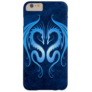 Dragones tribales gemelos, azules funda de iPhone 6 plus barely there