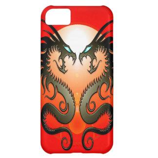 Dragones tribales gemelos funda para iPhone 5C