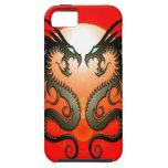 Dragones tribales gemelos iPhone 5 funda