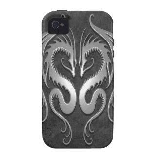 Dragones tribales oscuros vibe iPhone 4 carcasa