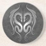 Dragones tribales, oscuros posavasos personalizados
