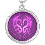 Dragones tribales, púrpuras collar personalizado