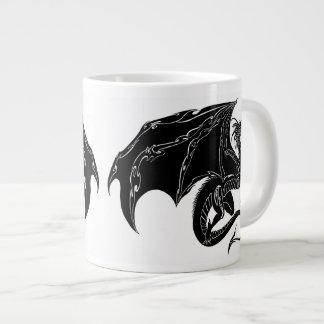 Dragones tribales taza de café grande