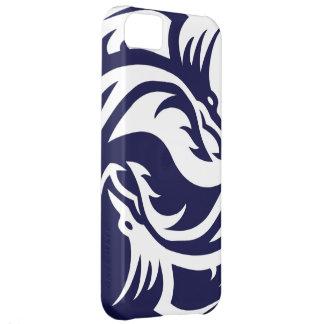 Dragones tribales Yin Yang (personalizable) Funda Para iPhone 5C