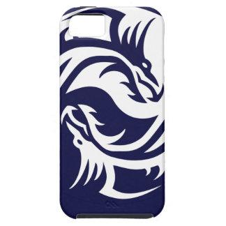 Dragones tribales Yin Yang (personalizable) iPhone 5 Carcasas