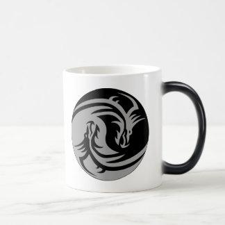 Dragones tribales Yin Yang (personalizable) Tazas