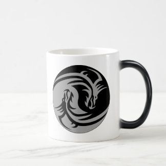 Dragones tribales Yin Yang (personalizable) Taza Mágica