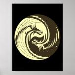 Dragones tribales Yin Yang (personalizar él!) Posters