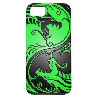 Dragones, verde y negro de Yin Yang iPhone 5 Carcasas