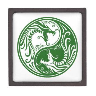 Dragones verdes adaptables de Yin Yang Caja De Recuerdo De Calidad