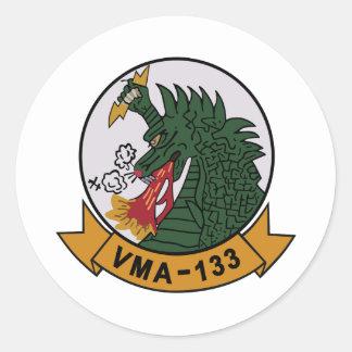 Dragones VMA-133 Pegatina Redonda