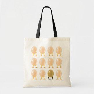 dragones y bolso de los huevos de los pollos