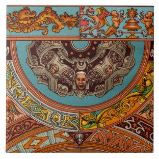Dragones y teja decorativa de los Gargoyles