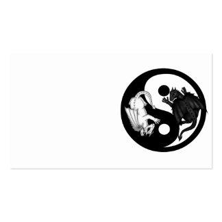 dragones ying tarjetas de visita de yang