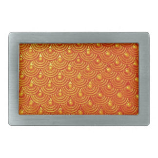 Dragonfire Scales Rectangular Belt Buckle