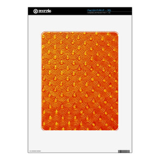 Dragonfire Scales Skins For iPad