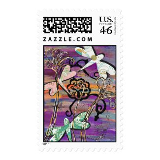 Dragonflies 3 Postage stamp
