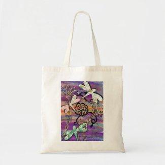Dragonflies 3 Tote Bag bag