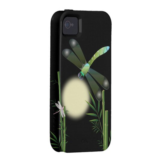 Dragonflies and Bamboo Case For The iPhone 4