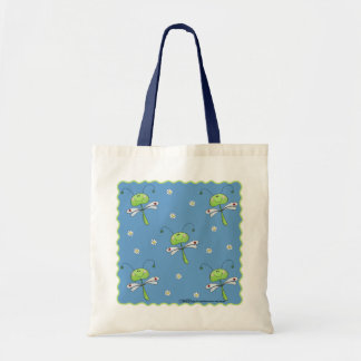Dragonflies and Daisies Budget Tote Bag