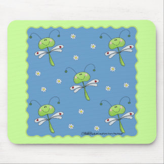 Dragonflies and Daisies Mouse Pad