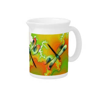 Dragonflies and Fractals Pitcher