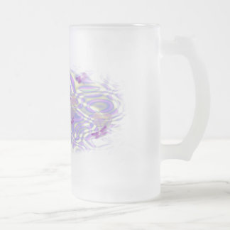 Dragonflies and Hearts Frosted Glass Beer Mug