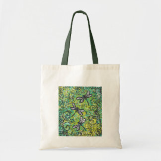 Dragonflies and Swirls, Graphic art Products Budget Tote Bag
