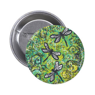 Dragonflies and Swirls, Graphic art Products Button
