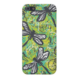 Dragonflies and Swirls, Graphic art Products Cover For iPhone 5