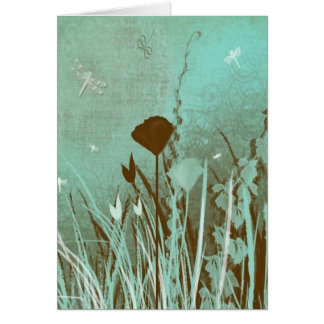 Dragonflies and Weeds Card