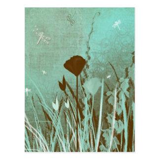 Dragonflies and Weeds Postcard