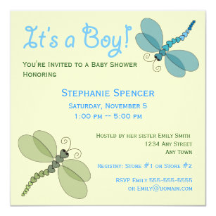 Dragonfly baby shower gifts on zazzle dragonflies baby shower invitation filmwisefo