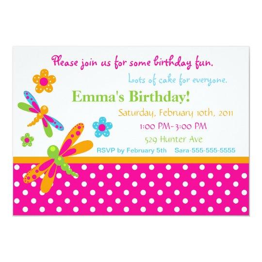 Dragonflies Birthday Invitation 12