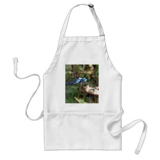 Dragonflies Blue Dragonfly on a Flower Husk Photo Adult Apron