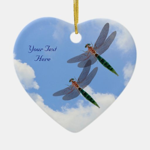 Dragonflies Blue Sky Customizable Ornament
