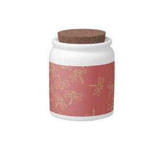 dragonflies candy jar