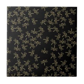 dragonflies ceramic tile