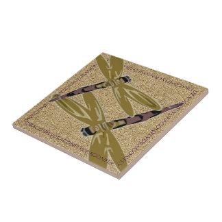 Dragonflies (cutout) ceramic tile