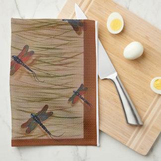 """dragonflies """"Dancing in the Marsh"""" Towel"""