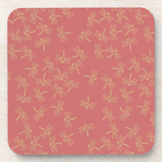 dragonflies drink coaster