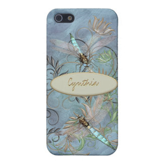 Dragonflies Floral Flourish Color Changing base iPhone SE/5/5s Case