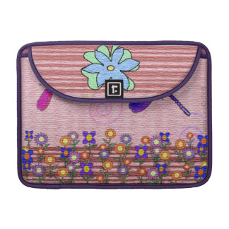 Dragonflies & Flowers MacBook Pro Sleeve