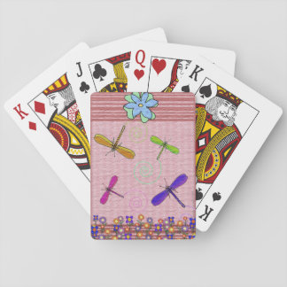 Dragonflies & Flowers Playing Cards