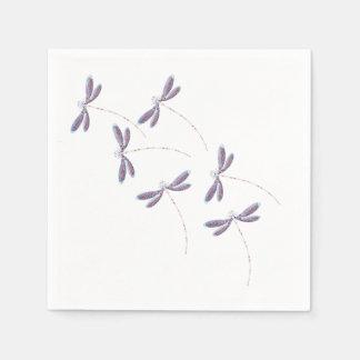 Dragonflies in flight napkin