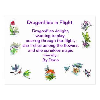 Dragonflies in Flight Postcard